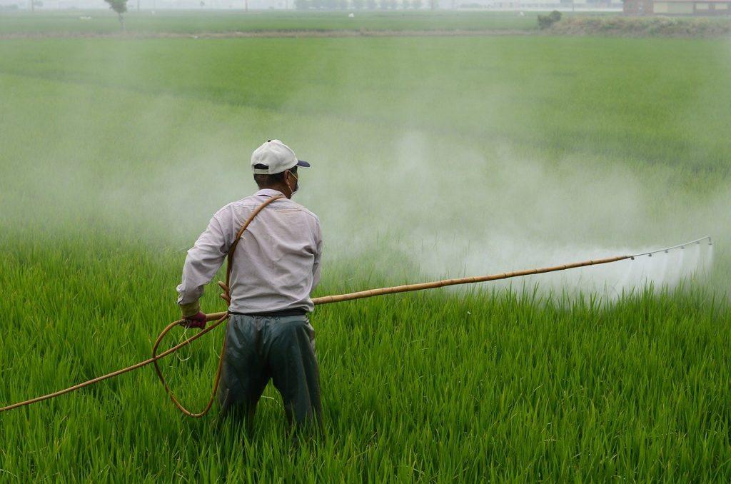 Pesticides on essential oil farms negatively impact the farmland.